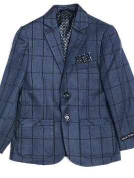 Leo & Zachary Blazer - Blue Window Pane - Leo and Zachary