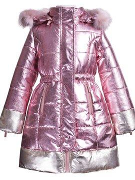 Imoga Pink Shimmer Vicky Coat  - Imoga Clothing