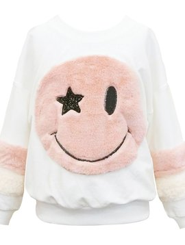 Sara Sara Smiley Face Sweatshirt - Hannah Banana