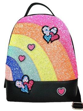 Sara Sara Glitter Rainbow Backpack - Hannah Banana