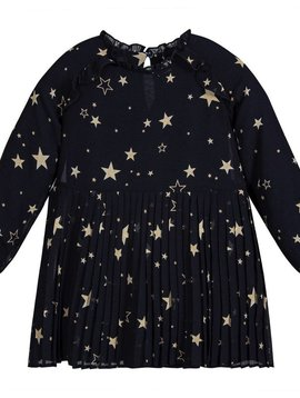 Mayoral Navy Stars Chiffon Dress - Mayoral Clothing