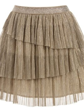 Mayoral Gold Tulle Layered Skirt - Mayoral Clothing