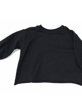 Go Gently Nation Black Puff Sweatshirt - Go Gently Nation Kids