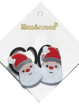 Lilies and Roses Ponytail - Glitter Santa Claus - Lilies and Roses