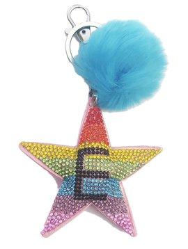 Bari Lynn Initial Rainbow Star Keychain - Bari Lynn Accessories