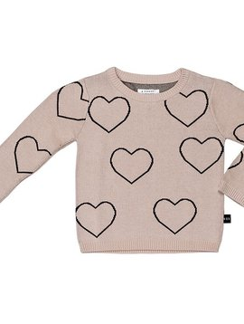 HUXBABY Heart Knit Sweater - Huxbaby