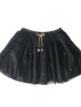 3pommes & B-Karo Navy Tulle Skirt with Stars - 3 pommes