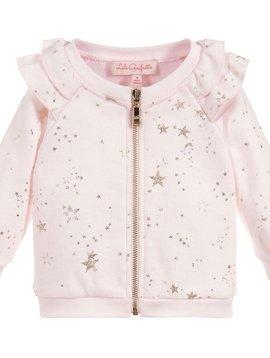 Lili Gaufrette Pink Stars Zip Sweatshirt - Lili Gaufrette