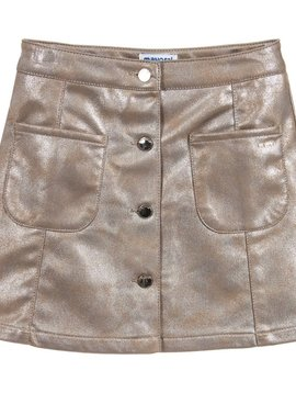 Mayoral Champagne Gold Faux Leather Skirt - Mayoral Clothing