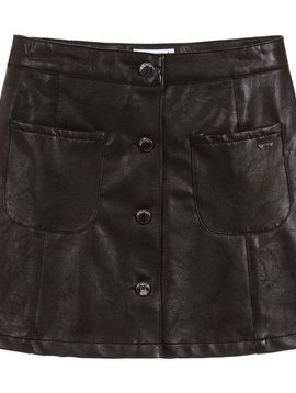 Mayoral Black Faux Leather Skirt - Mayoral Clothing