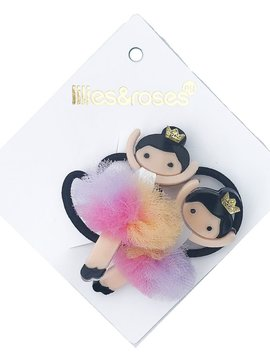 Lilies and Roses Ponytail - Rainbow Pom Ballerina - Lilies and Roses