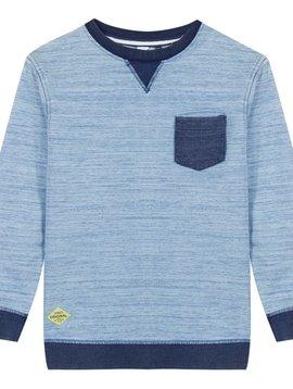 3pommes & B-Karo Heathered Blue Navy Pocket Sweatshirt  - 3 pommes