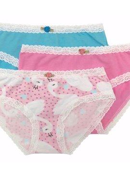 Esme Loungewear Panty 3-pack - Swans - Esme Loungewear