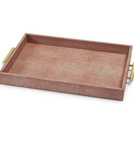 CORAL RECTANGULAR SHAGREEN TRAY