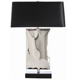 NAVARRO POLISHED NICKEL & BLACK MARBLE LAMP