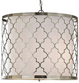 BRUSHED NICKEL METAL PENDANT