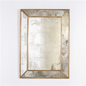 WORLDS AWAY DION MIRROR GOLD ANTIQUE MIRROR