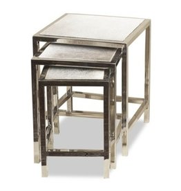 MORO HIDE NESTING TABLES (SET OF 3)