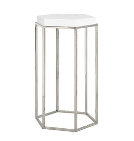 WORLDS AWAY ELSA NICKEL SIDE TABLE
