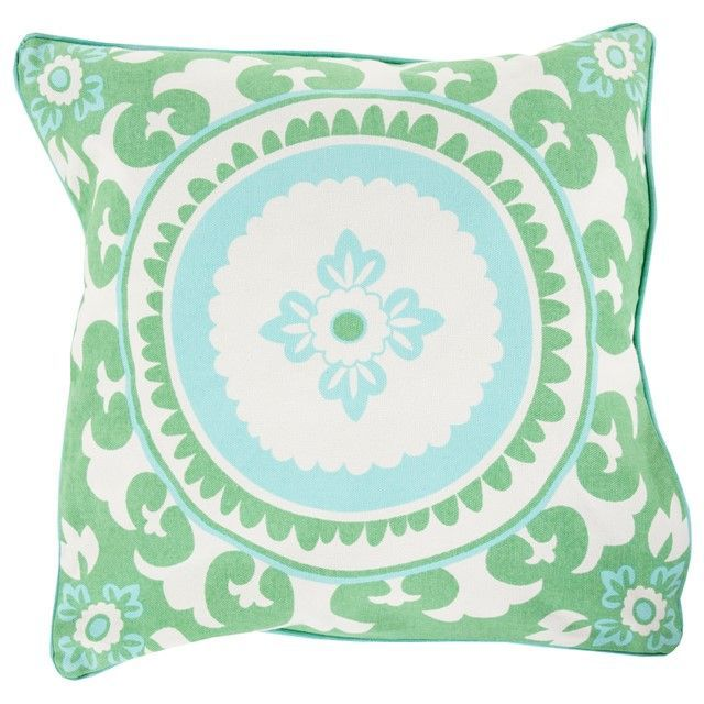 SURYA CELESTIAL MINT & IVORY DECORATIVE PILLOW