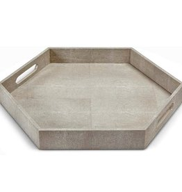 CHARCOAL SHAGREEN HEX TRAY