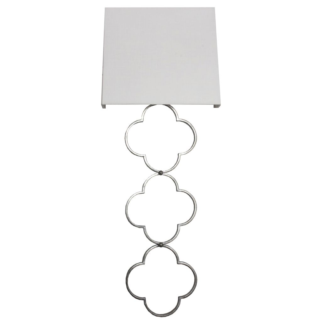 WORLDS AWAY ELIZABETH SILVER SCONCE