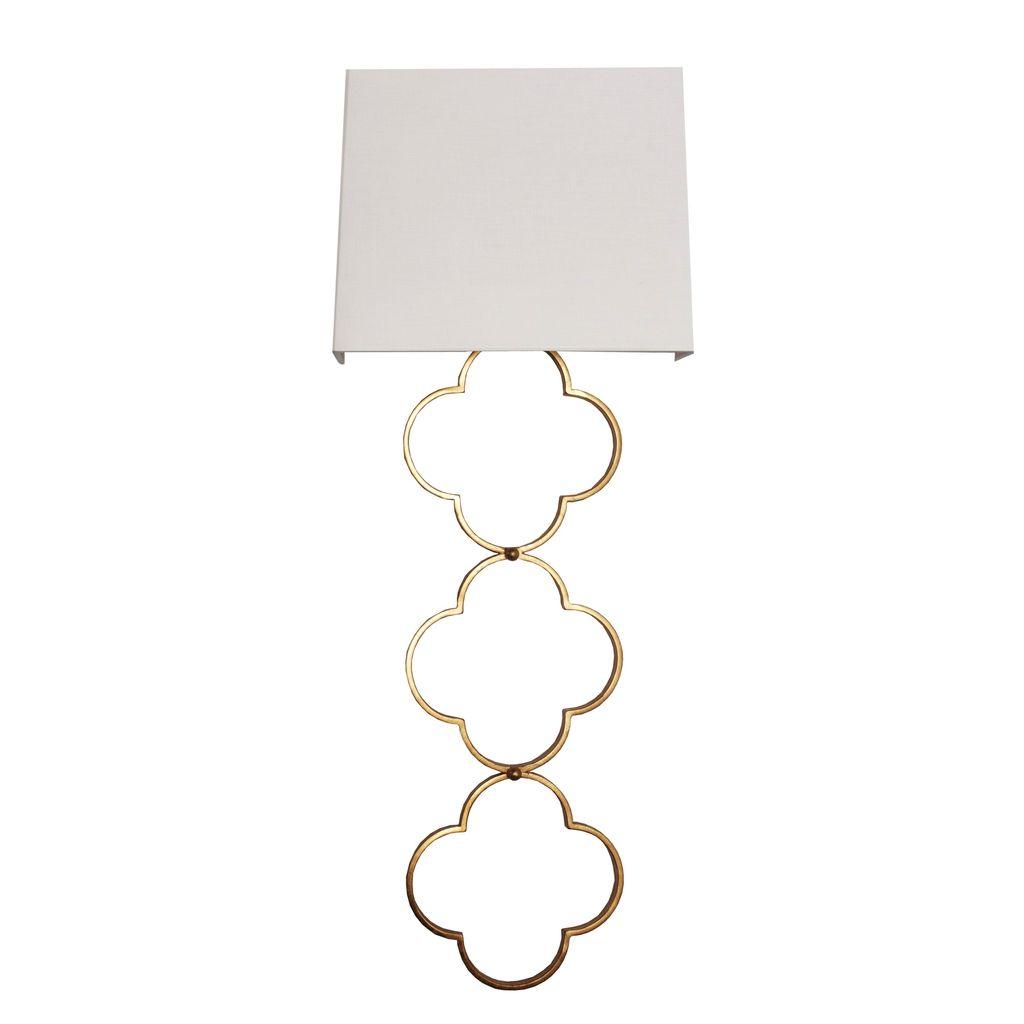 WORLDS AWAY ELIZABETH GOLD SCONCE