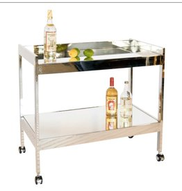 ROLAND NICKEL BAR CART