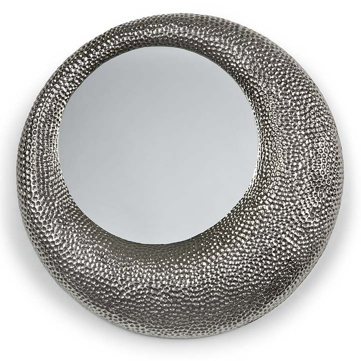 REGINA ANDREW HAMMERED MIRROR - NICKEL