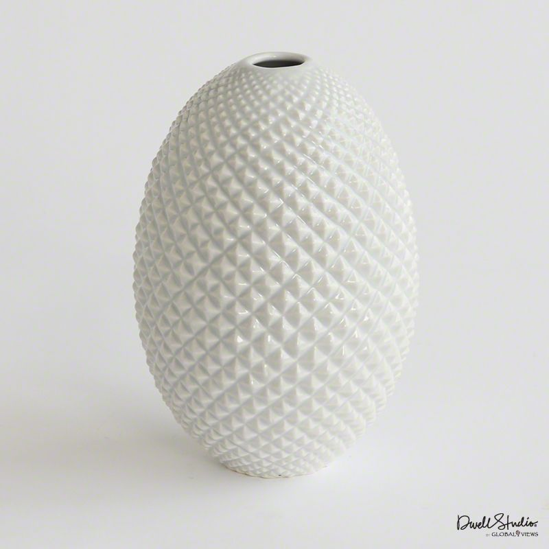 GLOBAL VIEWS DIAMOND CUT EGG VASE