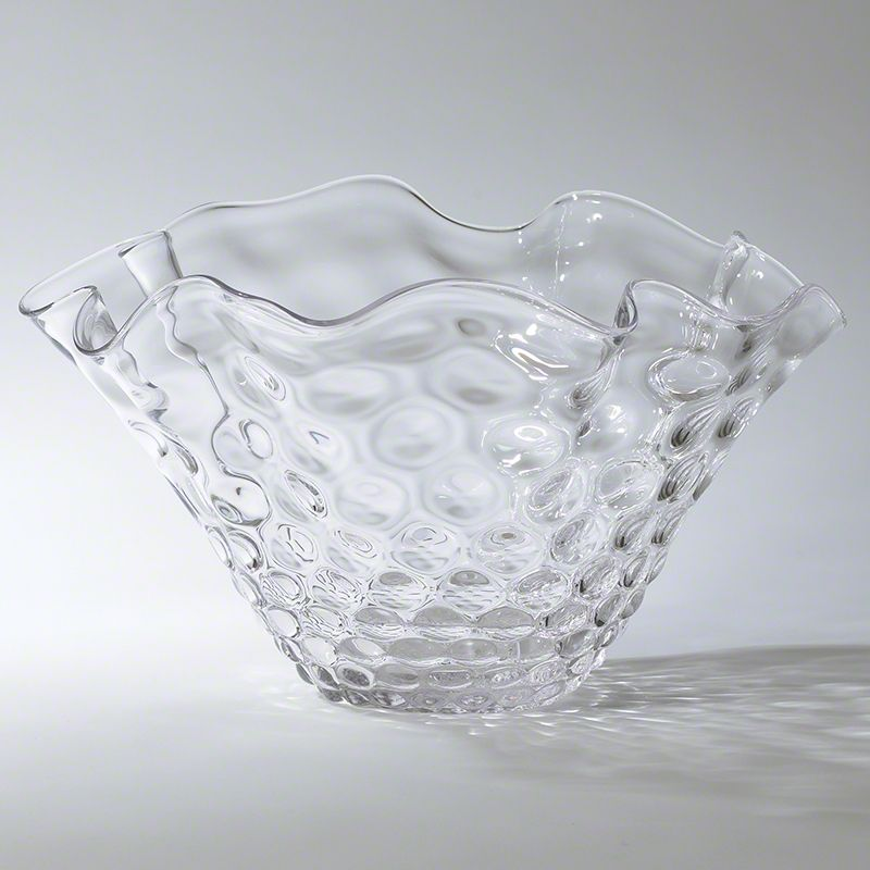 GLOBAL VIEWS HONEYCOMB OPTIC WAVY BOWL