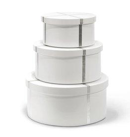 BUNGALOW 5 CHIFFANY ROUND NESTING BOXES, WHITE
