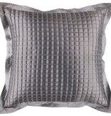 SURYA QUILTED PILLOW IN GRAY