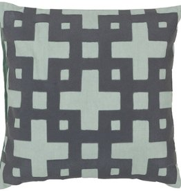 SURYA LAYERED BLOCKS PILLOW IN GRAY