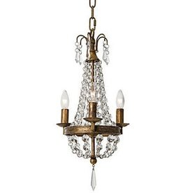 REGINA ANDREW VINTAGE DRAPED MINI CHANDELIER