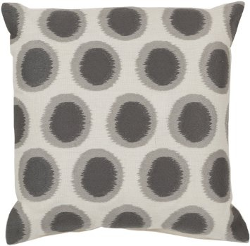SURYA IKAT DOTS PILLOW IN LIGHT GRAY