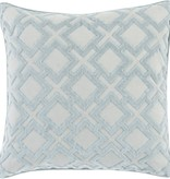 SURYA ALEXANDRIA PILLOW IN LIGHT GRAY & SLATE