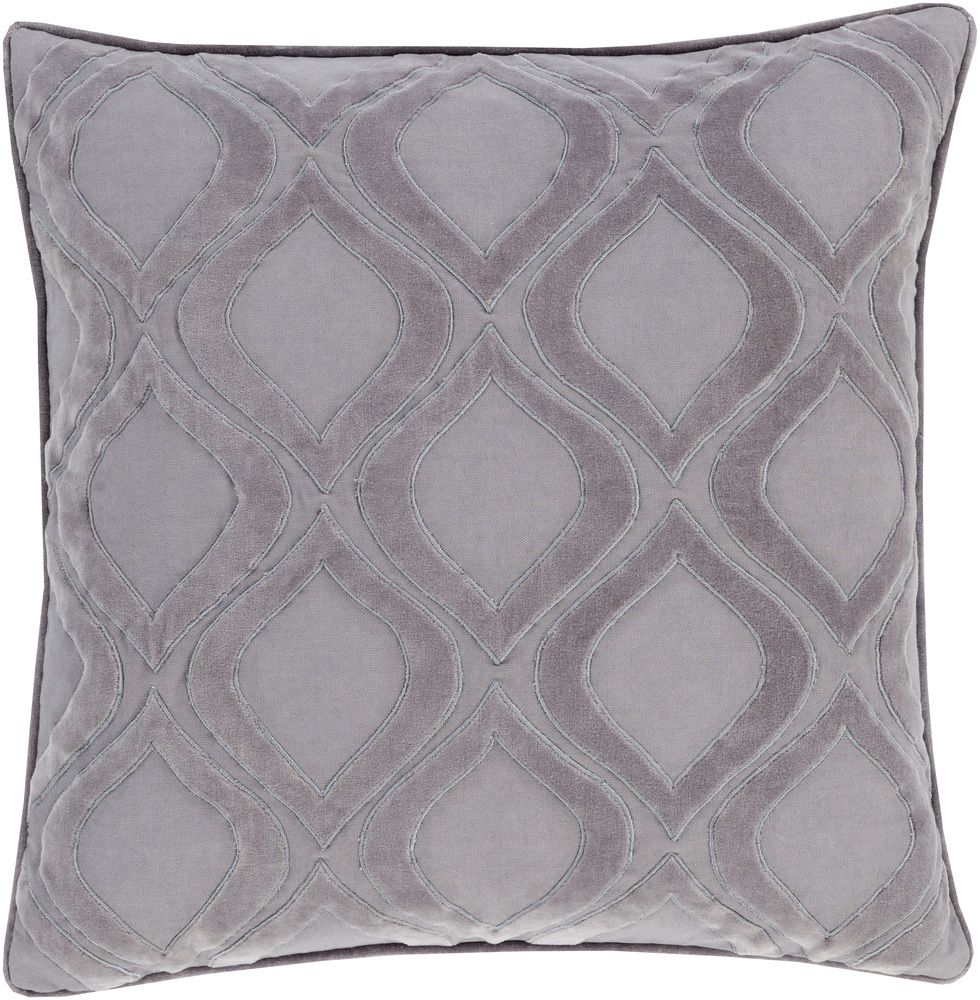 SURYA ALEXANDRIA PILLOW - CHARCOAL