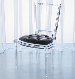 MARILYN ACRYLIC SIDE CHAIR- PEWTER- GREY