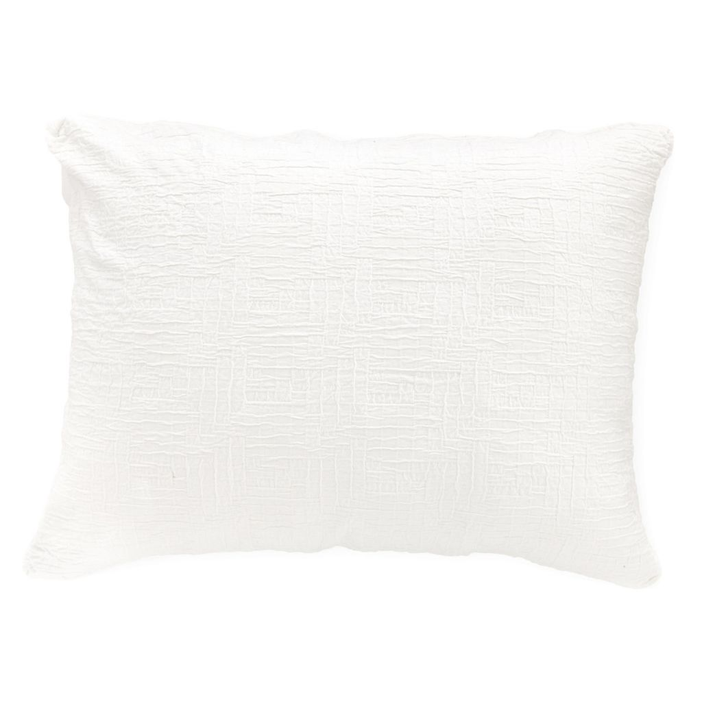 BAJA WHITE MATELASSÉ CONTINENTAL PILLOW