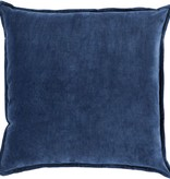 SURYA COTTON VELVET PILLOW IN NAVY
