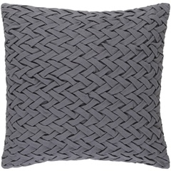 SURYA FACADE PILLOW IN GRAY