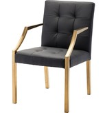 NUEVO PARIS DINING ARM CHAIR IN BLACK