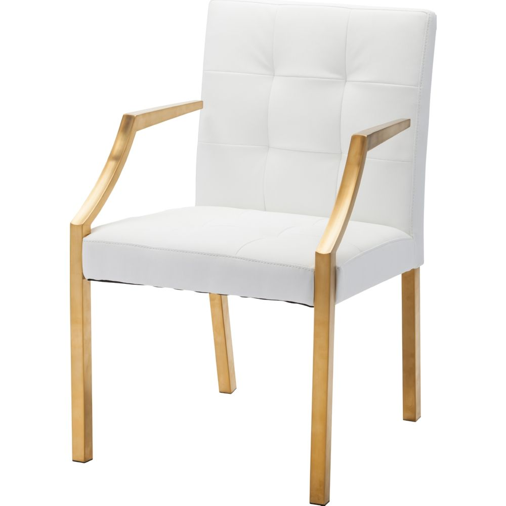 NUEVO PARIS DINING ARM CHAIR IN WHITE