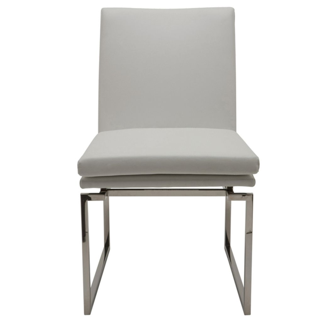 NUEVO SAVINE DINING CHAIR IN WHITE
