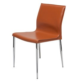 NUEVO COLTER DINING CHAIR IN OCHRE LEATHER