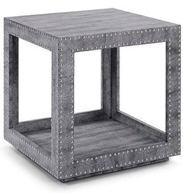 REGINA ANDREW SHAGREEN STUDDED ACCENT CUBE- PYTHON