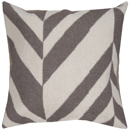 SURYA FALLON PILLOW IN GRAY/IVORY