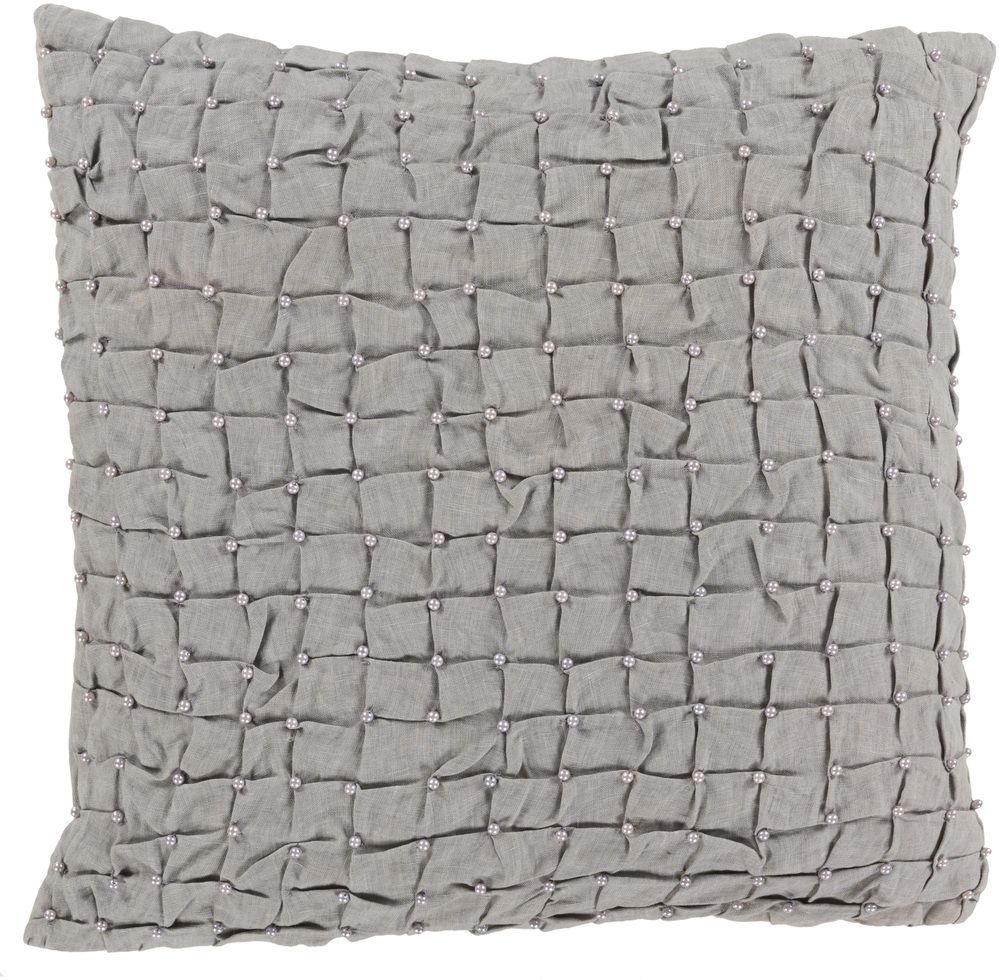 SURYA DIANA PILLOW IN LIGHT GRAY