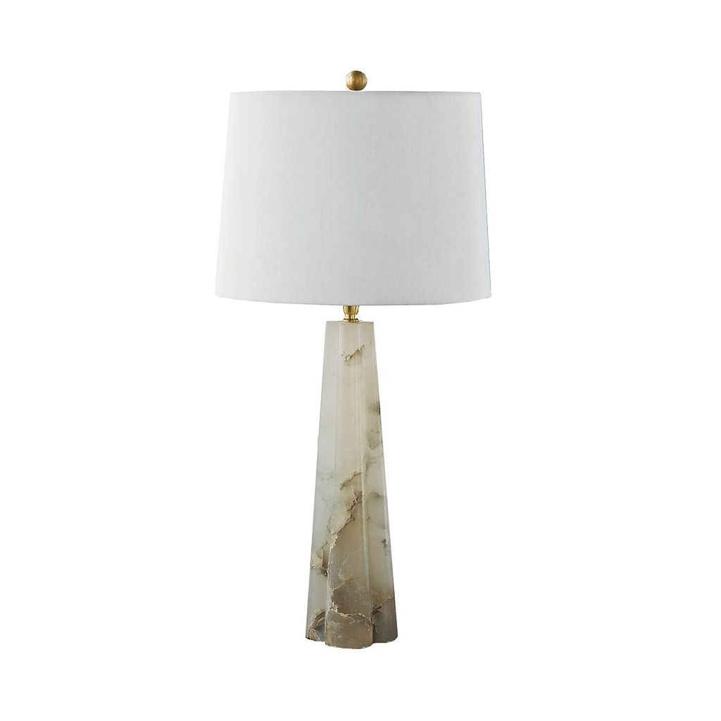 REGINA ANDREW SMALL ALABASTER QUARTERFOIL TABLE LAMP